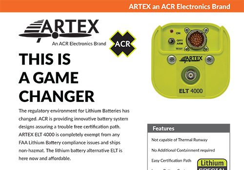 ACR Artex - Battery