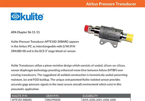 Kulite – Airbus Pressure Transducer
