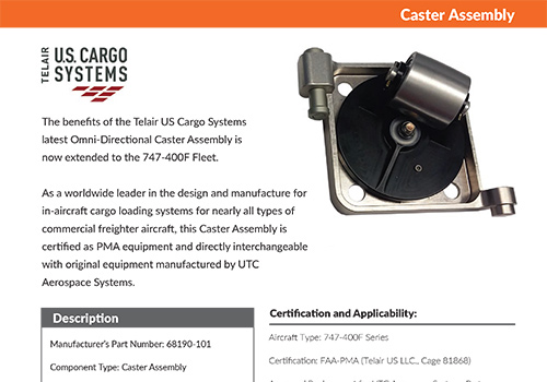 Telair US Cargo Systems - Caster Assembly
