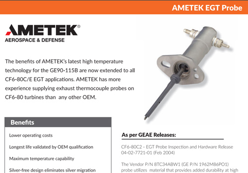 Ametek EGT Probe